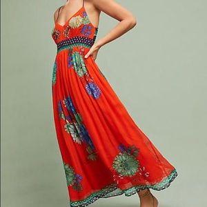 Maeve Ikebana maxi dress